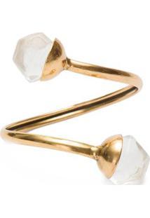 Bracelete Hexa Cristal Ouro Vintage Dipua - Dourado