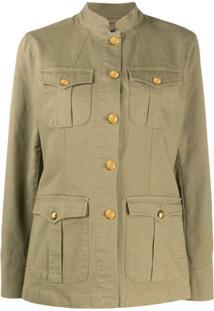 Polo Ralph Lauren Jaqueta Militar Com Gola Padre - Verde
