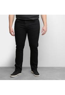 Calça Jeans Tbt Plus Size Masculina - Masculino-Preto
