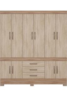 Guarda Roupa Casal 10 Portas New Murano Nogal/Vanilla Demóbile - Tricae