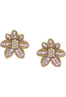 Dolce & Gabbana Floral Earrings - Dourado