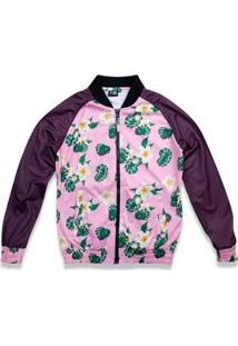 Jaqueta New Era Feminina Track Floral - Feminino-Rosa