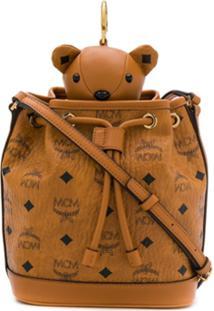 Mcm Bolsa Saco Teddy Bear - Marrom