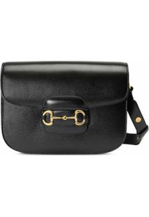 Gucci Gucci 1955 Horsebit Shoulder Bag - Black