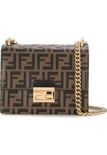 Fendi Kan U Small Shoulder Bag - Marrom