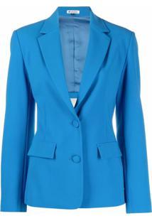 Krizia Blazer Com Abertura Posterior - Azul