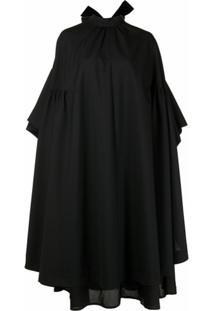 Comme Des Garçons Noir Kei Ninomiya Vestido Oversized Drapeado - Preto