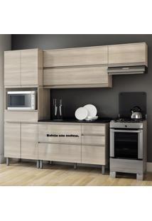 Cozinha Compacta Em L Sem Balcão 7 Portas Belíssima Plus Saara Wood - Itatiaia