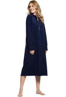 Robe Plush Buckle Zíper Feminino - Feminino
