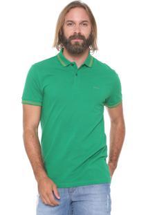 Camisa Polo Sommer Reta Listras Verde