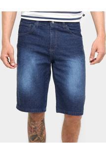 Bermuda Jeans Preston Estonada Masculina - Masculino-Jeans