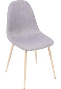 Cadeira Charla- Cinza & Bege- 85,5X45X40Cm- Or Dor Design