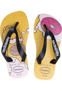 Sandália Havaianas Simpsons - Masculino-Amarelo