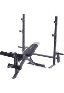 Banco De Musculação Weider Pro 395B Até 120 Kg Com 6 Níveis De Inclin