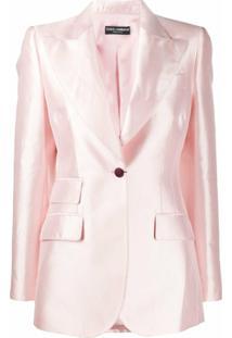 Dolce & Gabbana Blazer De Seda - Rosa