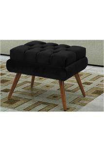 Puff Decorativo Dora Suede Animale Preto - Bremol