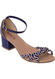 Sandália Azul Em Sintético