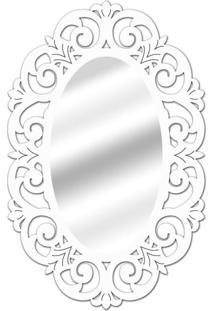 Espelho De Parede 14879B Branco 70X100 Art Shop