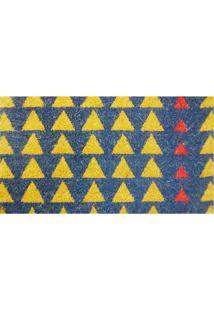 Capacho De Porta Matrix Naturale- Azul & Amarelo- 60Niazitex