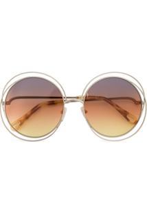 f7da049328e3d Óculos De Sol Dourado Fashion feminino   Shoelover