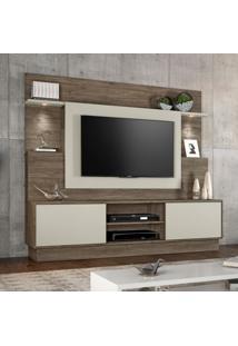 Estante Para Home Theater E Tv 55 Polegadas Accord Canela E Areia