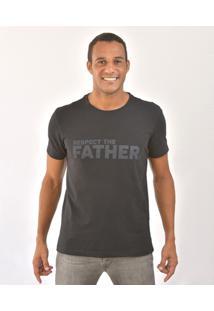 Camiseta Bora Respect The Father Masculina - Masculino-Preto
