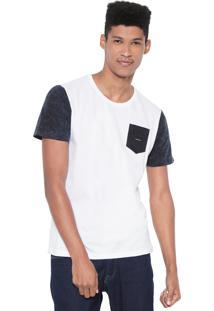 Camiseta Oakley Tye Dye Classic Branca/Azul-Marinho