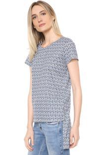 Camiseta Lança Perfume Mullet Azul/Branca