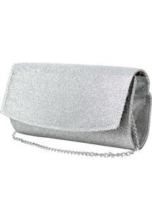 Bolsa De Mão Hendy Bag Glitter Prata