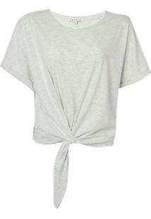 Blusa Le Lis Blanc Kim Ii Malha Algodão Cinza Mescla Feminina (Cinza Mescla Claro, G)