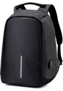 Mochila Thata Esportes Anti-Furto Compartimento Para Notebook Laptop Saída Usb Carregamento De Dispositivos Preta