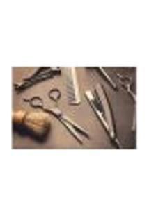 Painel Adesivo De Parede - Barbearia - Barber Shop - 1122Pnm
