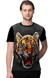 Camiseta Stompy Angry Tiger Masculina - Masculino-Preto