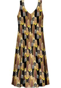 Vestido Estampado Amarração Pranchas - Lez A Lez
