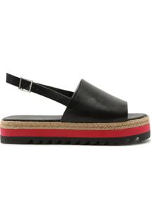Sandália Flatform Sporty Cover Up Black | Schutz