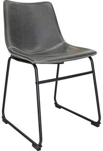 Cadeira De Jantar Vintage Mkc-043-Marka Móveis - Cinza