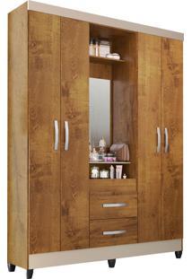 Guarda Roupa Capelinha C/Espelhos Canelatto Rústico Atualle - Tricae