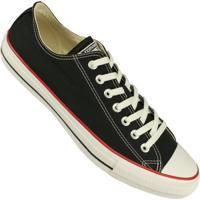 Tênis Converse All Star Chuck Taylor Cano Baixo - Masculino-Preto+Vermelho 3995fe2d7e7d1