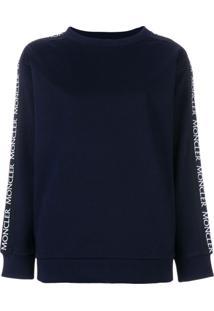 Moncler Blusa De Moletom Decote Careca - Azul
