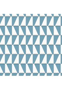 Papel De Parede Geométrico Azul (950X52)