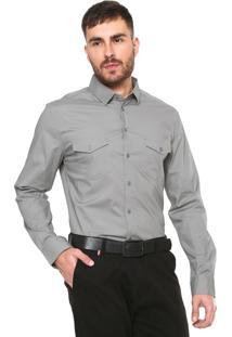 Camisa Colcci Slim Fit Básica Cinza