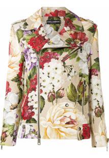 Dolce & Gabbana Jaqueta Biker Com Estampa Floral - Colorido