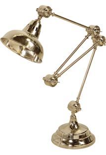 Luminária De Mesa Office De Metal Articulado Para 1 Lâmpada Bivolt