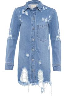 Jaqueta Feminina Jeans - Azul