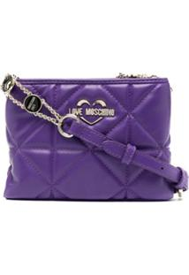 Love Moschino Double-Pouch Cross-Body Bag - Roxo