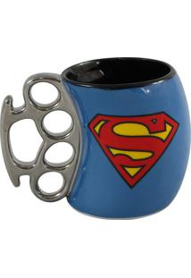 Caneca Soco Inglês Super Homem 350 Ml - Caneca Soco Inglês Superman 350 Ml