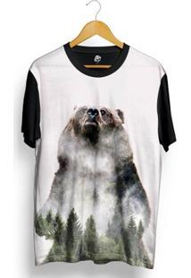 Camiseta Bsc Urso Floresta Full Print - Masculino