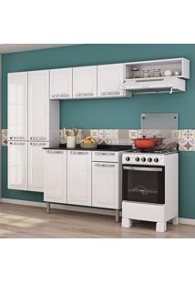 Cozinha De Aço Completa Rose Com Balcão 10 Portas Branco - Itatiaia