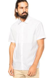Camisa Calvin Klein Jeans Encerada Branca