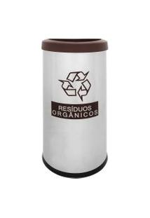Lixeira Seletiva Recycling Orgânico 40,5 Litros - Brinox